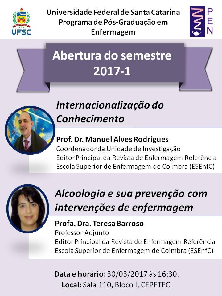 Divulgação abertura semestre 2017.1